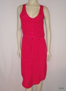 Fossil short dress Pink Coral Print Silk on Tradesy