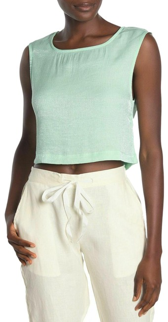 Item - Green Cropped Tank Top/Cami Size 8 (M)