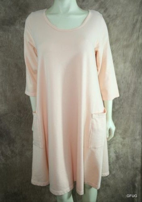 Other short dress Pink Cmc Color Me Cotton Peachy Stretch Tunic Oversized Shirt on Tradesy