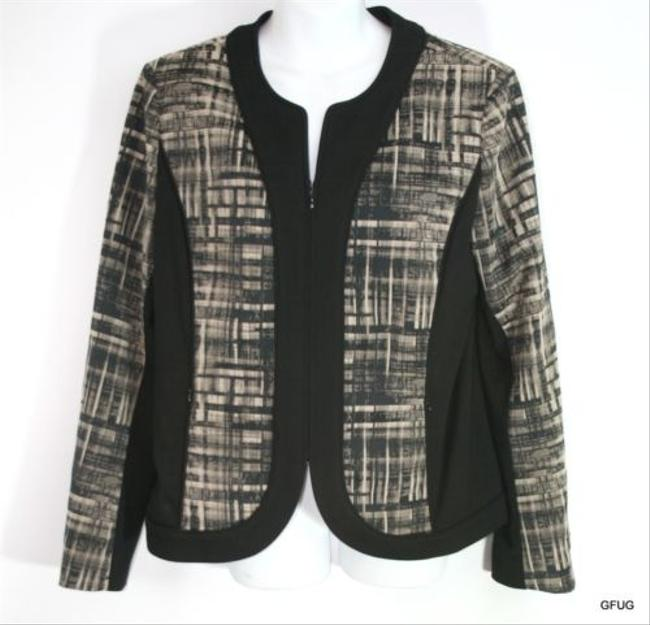 Lafayette 148 New York Lafayette 148 Ny Brown Linen Blend Pique Blazer Jacket Button-up