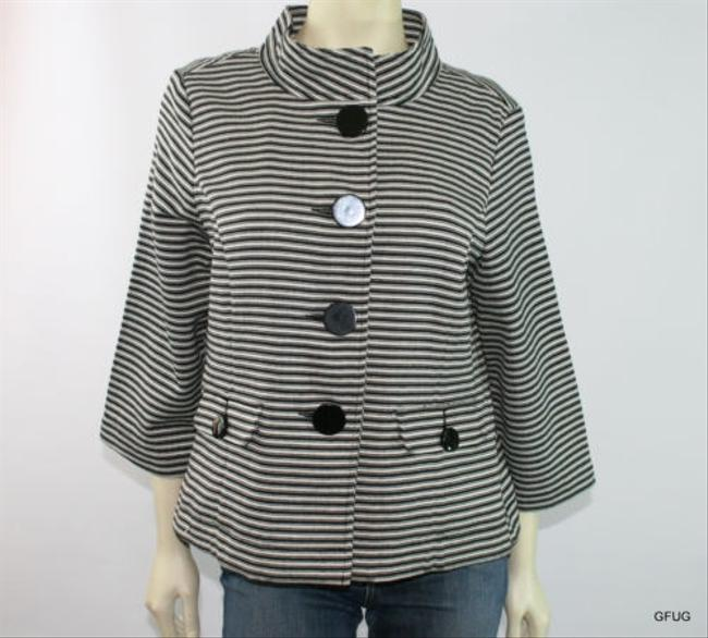 Preload https://item1.tradesy.com/images/other-nicaya-black-white-cotton-blend-striped-blazer-jacket-2981950-0-0.jpg?width=400&height=650
