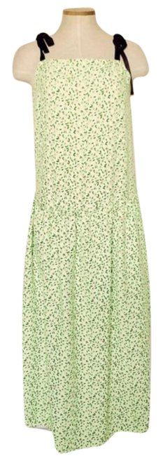 Item - Green Floral Print Mid-length Casual Maxi Dress Size 4 (S)