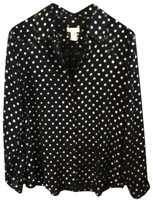 Item - Black and Gold Blouse Size 6 (S)