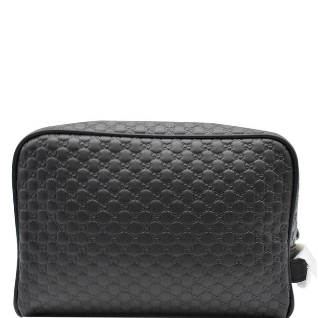 Item - Leather Toiletry Case 419775 Black Gg Microguccissima Beach Bag