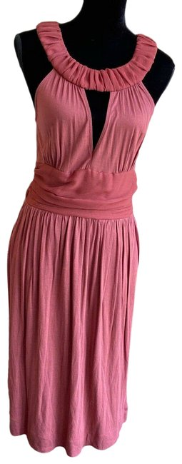 Item - New Rust Open Front Halter Knit Pockets Small Short Casual Dress Size S