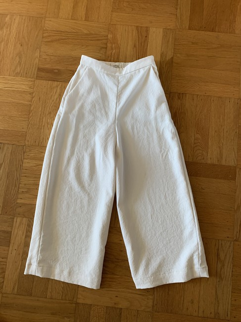 Item - White XS Wilfred Ivory Cropped Trousers Us Pants Size 00 (XXS, 24)