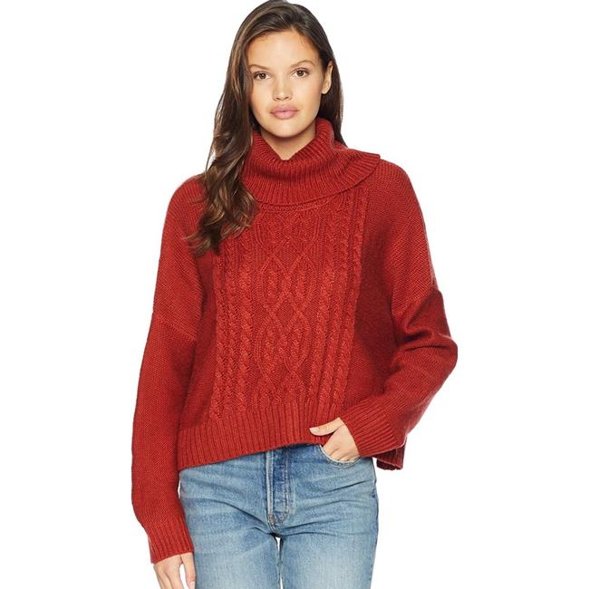 Item - Say Anything Cable Burnt Orange Sweater