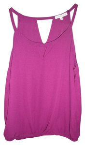 Charlotte Russe Wild Orchid Sleeveless Keyhole Hippie Boho Top Purple