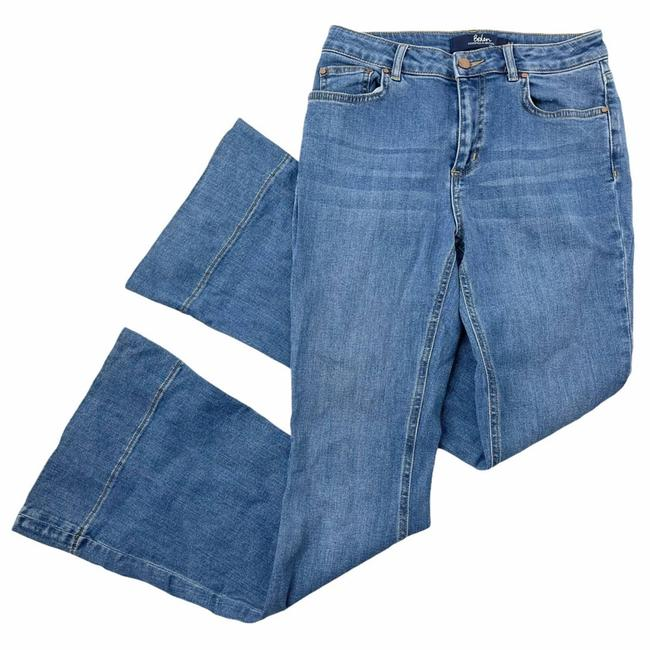 Item - Blue 4p The Heswall High Flare Leg Jeans Size 27 (4, S)