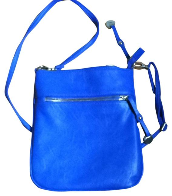 Item - Blue Faux Leather Cross Body Bag
