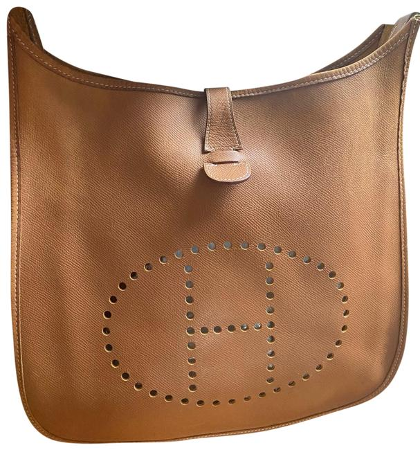 Item - Evelyne Taurillon Clemence I Gm Brown Leather Cross Body Bag