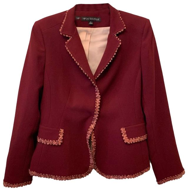 Item - Red Red/Pink Trimmed Blazer Size 6 (S)