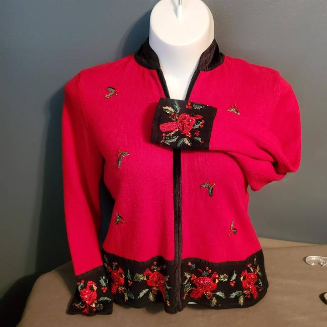 Item - 1980's Ugly Christmas Size Large Red Sweater