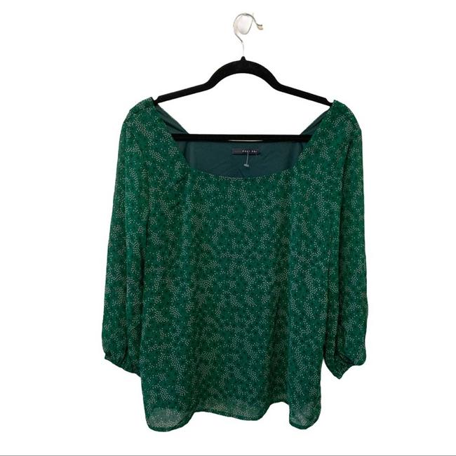 Item - Green Small Nwot Printed Blouse Size 4 (S)