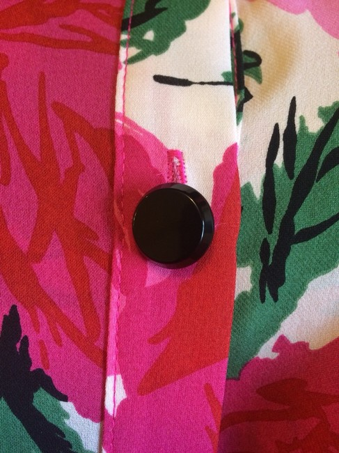 Rebecca Minkoff Top Shades Of Pink With Green Accents
