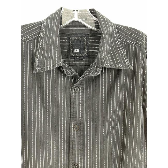 Item - Black and White Stripe Shirt Button-down Top Size 8 (M)
