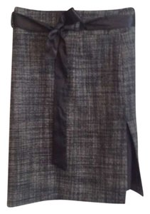 Kenneth Cole Skirt Black and white tweed
