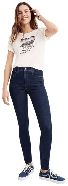 """Item - Blue Dark Rinse Lucille 10"""" High-rise In Wash Skinny Jeans Size 25 (2, XS)"""