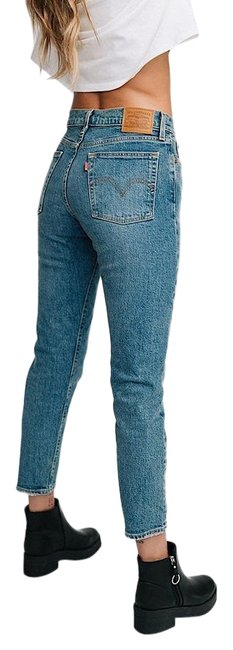 Item - Blue High Waist In These Dreams Straight Leg Jeans Size 26 (2, XS)