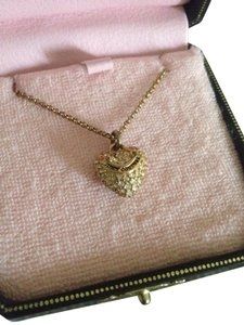 Juicy Couture Gold Heart Juicy Necklace