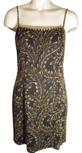 Oleg Cassini Beaded Silk Dress