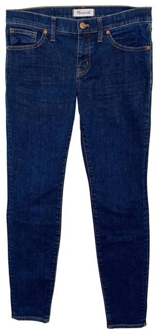 """Item - Blue 8"""" In Quincy Wash Cotton Stretch Blend Skinny Jeans Size 28 (4, S)"""