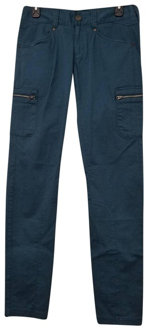 Item - Green Nopa Cargo Zippered Pockets 918935 Teal Pants Size 4 (S, 27)