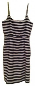 J.Crew short dress Black/White Stripe Blouson Tank Style #77553 on Tradesy