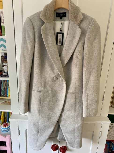 Item - Gray Vested Wool By Coat Size 4 (S)