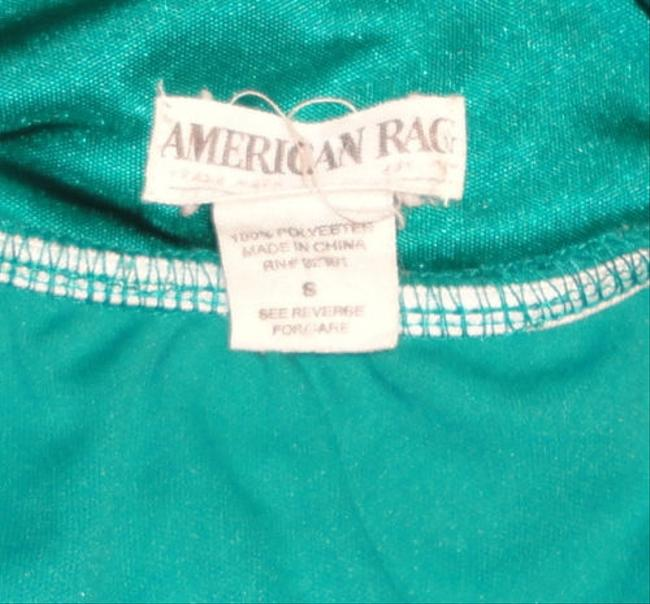 American Rag Teal Tiered Braided Crisscross Top Green