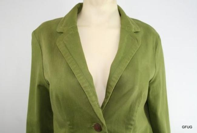 Cartonnier Cartonnier Anthropologie Army Green Kittery Blazer Jacket Elbow Patches