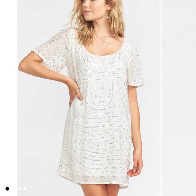 Item - Silver Smym Katie Frostly Beaded Small Msrp Cocktail Dress Size 4 (S)