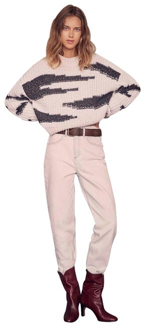 Item - Cacilie Pull Metallic Thread Made In Italy Small White Sweater