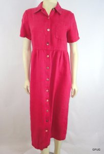 Other short dress Red Match 10p Pale Linen Shirtmakers Short Sleeves on Tradesy