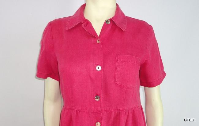 Other short dress Red Match 10p Pale Linen Shirtmakers Sleeves on Tradesy