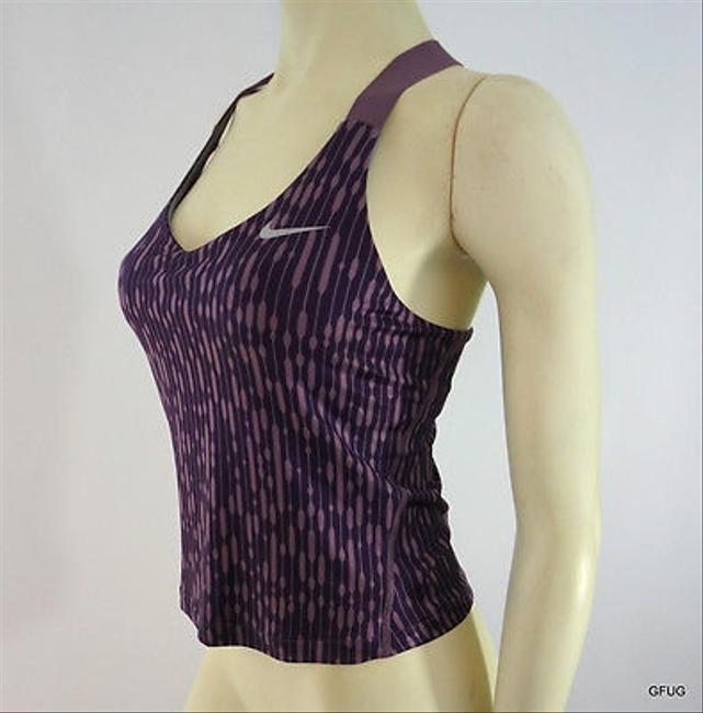 Nike Nike Purple Dri Fit Geometric Print Racerback Sports Tank Top Running