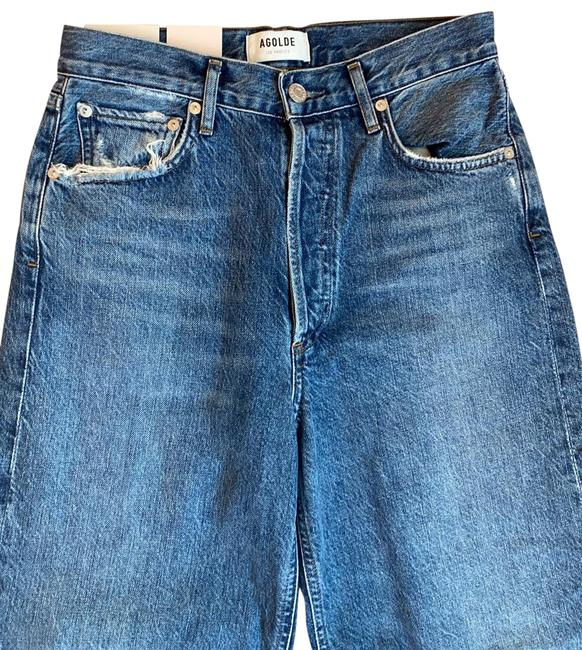 Item - Dark Rinse Cropped Wide Relaxed Fit Jeans Size 2 (XS, 26)