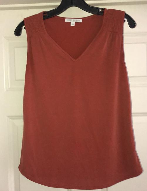 Item - Rust Sleeveless Smocked Shoulders Tank Top/Cami Size 4 (S)