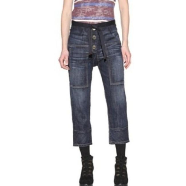 Item - Blue The Seam Patch Pant with Toggle Bottons Capri/Cropped Jeans Size 24 (0, XS)