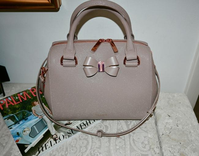 Item - Bowler Taupe Leather Satchel
