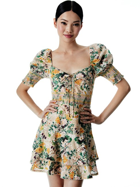 Item - Multi with Tag Crawford Floral Sweetheart Neck Cotton Minidress Short Cocktail Dress Size 4 (S)