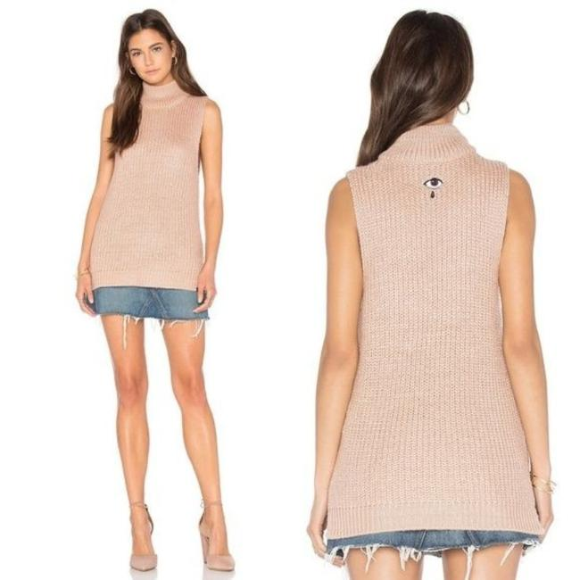 Item - No 89 Covert Embroidered Eye Sleeveless Pink Sweater