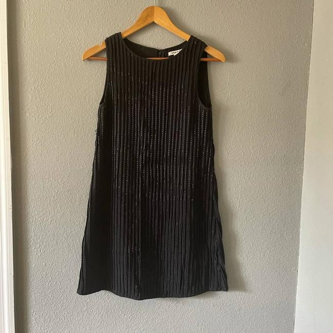 Item - Black And Beaded Short Casual Dress Size 4 (S)