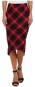 Free People Skirt Red Plaid checkered Skirt