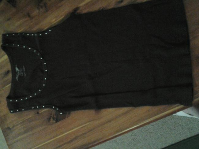 Younique Clothing Sleeveless Embellished T Shirt brown