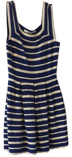 Max Studio short dress Blue With White Straps Fun Summer Party Holiday Beach on Tradesy