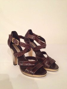Michael Kors Strappy brown snakeskin Pumps