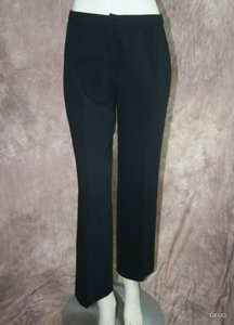 Versace Gianni 46 Italian Wool Cropped Straight 27x28 Capri/Cropped Pants Black