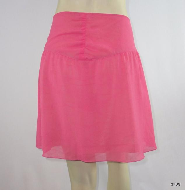 Lux Urban Outfitters Crepe Gathered Waist Mini Skirt Pink