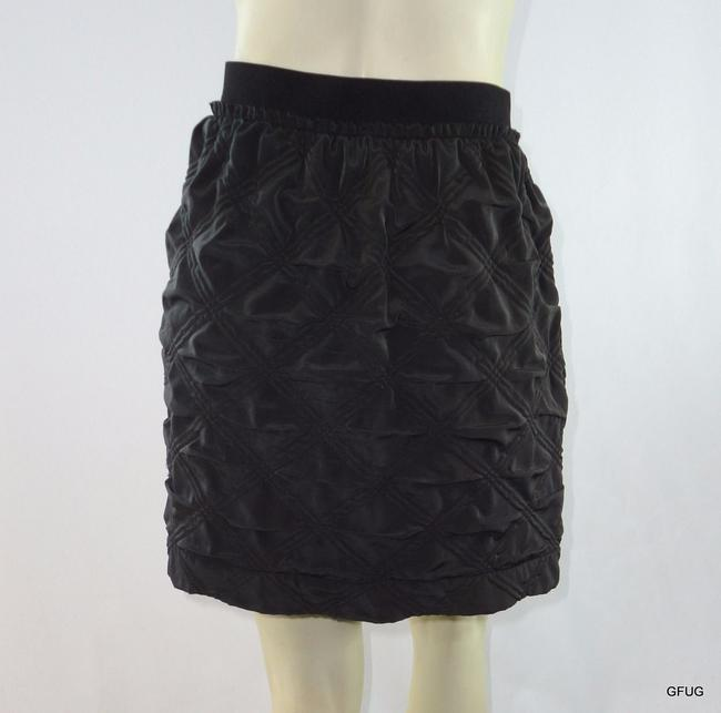 Anthropologie Leifnotes Quilted Exposed Straight Pockets Skirt Brown